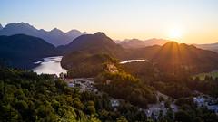 Hohenschwangau (Robert F. Photography) Tags: hohenschwangau schloss burg sonnenuntergang sunset deutschland landscape landschaft berge see nikon z