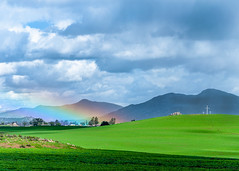 God's Promise with a Rainbow (James McDonnell Photography) Tags: jesus landscape cross crosses calvary rainbow mountains religion religious christian catholic evangelical spring whitecross trescruces hope god salvationknoll menifee inlandempire california socal riversidecounty southerncalifornia jamesmcdonnellphotography 9258400708