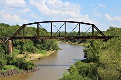 kiamichi river rr bridge 2 (reluctant_paladin) Tags: oklahoma rusty railroad bridge railway train trestle kiamichi river