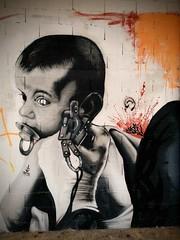 Tattooed boy (PILI*PILI) Tags: urbex usine abandonné désaffectée tatouage tattoo boy garçon graffiti graff tag mur tagué