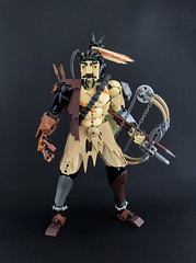 Junkertown Hanzo (Ballom Nom Nom) Tags: bionicle lego ccbs herofactory moc creation toy model character hanzo overwatch hanzoshimada junktertown outback australia postapoc madmax bow arrow