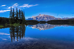Two jack L (Robert Grove 2) Tags: banff canada blue lake reflections calm still landscape nature trees