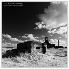History (ScudMonkey) Tags: copyrightc2019 paulbradley southgare digitalinfrared converted canon 7d 720nm teesmouth monochrome bw blackwhite landscape britishsteel corus wwii airdefence bunker arp efs1022mmf35 squareformat