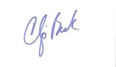 Chip Beck autographed index card (Joe Merchant) Tags: chip beck autographed index card golfer