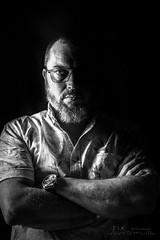 GTA (Zik Photography) Tags: 6d canon 50mmf14 fullframe lowkey gta lunette glasses portrait face studio barbe barber