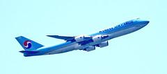 Korean Air Cargo Leaving LAX (stevblock) Tags: korean air cargo leaving lax