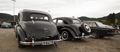 1968 Fiat 125, 1951 W191 Mercedes Benz 170 Sb, 1950 W136 Mercedes Benz 170 S, 1970 Volvo 144 B20 - IMG_6967-e (Per Sistens) Tags: cars thamsløpet thamsløpet19 orkladal veteranbil veteran mercedes mercedesbenz w191 w136 volvo 144 140 b20 fiat