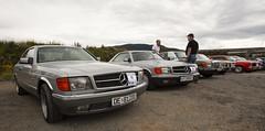 1985 C126 Mercedes Benz 500 SEC, 1982 C126 Mercedes Benz 500 SEC, 1973 W116 Mercedes Benz 280 SE, 1969 Opel Diplomat B V8, 1973 Ford Taunus TC 1600 L - IMG_6965-e (Per Sistens) Tags: cars thamsløpet thamsløpet19 orkladal veteranbil veteran mercedes mercedesbenz w126 c126 w116 opel admiral b ford taunus tc coupes