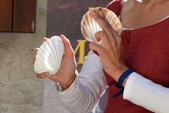 """Musique, musique, musique ! chants, rythmes, danses... (Brigitte .. . """"Tatie Clic"""") Tags: 2018081532 fêtedevillage fêtemédiévale personnes scènederue scènedevie musique coquille coquillage monflanquin lotetgaronne aquitaine francesudouest"""
