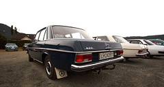 1973 Volvo 144 GL B20, 1972 W114 Mercedes Benz 230, 1972 W115 Mercedes Benz 220 D - IMG_6927-e (Per Sistens) Tags: cars thamsløpet thamsløpet19 orkladal veteranbil veteran mercedes mercedesbenz w114 w115 volvo 140