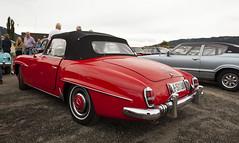 1956 R121 Mercedes Benz 190 SL - IMG_6951-e (Per Sistens) Tags: cars thamsløpet thamsløpet19 orkladal veteranbil veteran mercedes mercedesbenz r121 ford taunus tc