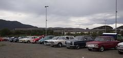 1968 Volvo Amazon 121 B18, 1968 Ford Cortina Mk II, 1967 Volkswagen T1 1500, 1973 Volkswagen T1 1303 S, 1980 Opel Ascona B 2.0, 1972 W115 Mercedes Benz 220 D, 1972 W114 Mercedes Benz 230, 1969 NSU 1200 L - IMG_6904-e (Per Sistens) Tags: cars thamsløpet thamsløpet19 orkladal veteranbil veteran volvo amazon ford cortina volkswagen t1 mercedes mercedesbenz w114 w115 nsu