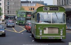 Bristol Omnibus RELL WS1182,  YHU 502J nearing journeys end, May 19th 1984 (Bristol RE) Tags: c1182 1182 ws1182 yhu502j westonandwells bristol bristolomnibus bristolre rell rell6l stjamesbartonroundabout ecw
