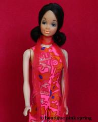 VINTAGE MOD WALK LIVELY STEFFIE WALKING BARBIE DOLL w/ ORIGINAL OUTFIT & SCARF (laika*2008) Tags: vintage mod walk lively steffie walking barbie doll w original outfit scarf