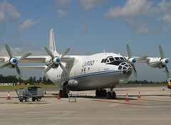 Heli Air                                           Antonov AN12                                          LZ-CBG (Flame1958) Tags: heliair heliairan12 an12 antonov antonov12 lzcbg dub eidw dublinairport 260604 0604 2004 airfreight aircargo 6508