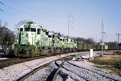 rr5163 (George Hamlin) Tags: georgia atlanta railroad freight train oneida western coal emd sd402 diesel locomotives track sky ballast green machine csx photodecor george hamlin photography