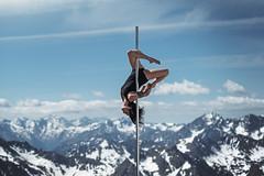 (dimitryroulland) Tags: nikon d750 85mm 18 dimitryroulland montagne picdumidi natural light nature blue sky poledance poledancer pole dance dancer clouds france performer art artist