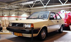 Volvo 340 1986 (XBXG) Tags: ph57dz volvo 340 1986 volvo340 daf77 blanc white variomatic dafmuseum museum 2019 tongelresestraat eindhoven noordbrabant brabant nederland holland netherlands paysbas youngtimer old dutch classic car auto automobile voiture ancienne hollandaise néerlandaise nederlands vehicle indoor daf