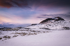 High in the clouds (JusKlaud) Tags: mountains highlands iceland snow clouds sunset