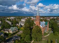 Kirik ja pilved (BlizzardFoto) Tags: kirik church paulusekirik stpaul'schurch pilved clouds taevas sky viljandi droonifoto aerofoto dronephotography aerialphotography