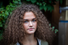 _MG_0403 (Mikhail Lukyanov) Tags: woman girl young beautiful pretty portrait closeup curly summer leaves