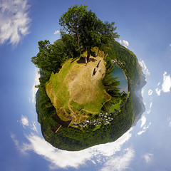 Loudenvielle from the castle - Mini Planet (David B. - just passed the 7 million views. Thanks) Tags: panorama ville town city miniplanet planet river rivière france sony midipyrénées loudenvielle génos pyrénées hautespyrénées occitanie louron vallée mountains mountain montagne montagnes lac lake tour tower castle tinyplanet smallplanet planetoid a6000 sonya6000 sonyalpha6000 ilce6000 sonyilce6000 1018 wideangle sun sunny sunshine sky cloud clouds watchtower