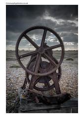 Dungeness Winch Wheels (mmurphyphotos.co.uk) Tags: dungeness beach abandoned machine rusty winch storm