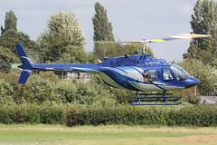 G-SYDH - 1977 build Bell 206B Jet Ranger III, heading to the fuel pumps at Barton (egcc) Tags: 2398 barton bell bell206 bell206b cityairport egcb gbxnt gsydh helicopter jetranger lightroom manchester n123al n43ea n94ca sjhnorthwest