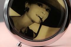 Macro Mondays...Closed (Sue Armsby) Tags: macromondays macro mirror closed compact handbag audreyhepburn filmstar actress beauty picture armsbysue ef100mmf28lisusmmacro 2 4