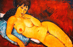 Nude on a Blue Cushion (Thomas Hawk) Tags: amedeomodligliani america dc districtofcolumbia museum nationalgalleryofart nudeonabluecushion usa unitedstates unitedstatesofamerica washingtondc washington amedeomodigliani fav10 fav25