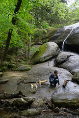 21 Beth and the girls at the second falls (anne.kane) Tags: 40acrerock southcarolina wildflowers waterfalls naatureconservancy