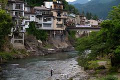 Mouche (Aphélie) Tags: gifu japan river fisherman city 岐阜県 日本 pêcheur