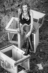 Charli Blake (Thomas Hawk) Tags: america bayarea california charli charliblake cossonhall sf sagehall sanfrancisco starburst treasureisland usa unitedstates unitedstatesofamerica westcoast abandoned bw decay graffiti
