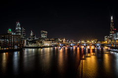 lights, shadows and the city (Paul wrights reserved) Tags: light refl reflection reflections reflectionphotography thames london longexposure londonstreets shard londonviews bridge building buildings night nighttime nightphotography nightscape cityscape