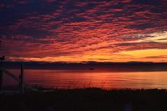Lake Superior Sunrise (czarmeg) Tags: lake lakesuperior michigan sunrise clouds morning dawn red orange landscape