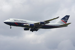 "British Airways 747-436 ""Landor"" Retro Jet (nickchalloner) Tags: gbnly boeing 747436 747400 747 b747 400 436 british airways ba baw ba100 100 retro retrojet jet landor london heathrow airport lhr egll"