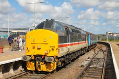 37419 at Great Yarmouth ex 2P18 1036 Norwich - Great Yarmouth 17/08/19. (chrisrowe37419) Tags: 37419 greatyarmouth norwich 2p18 1036 170819 eastanglia shortset