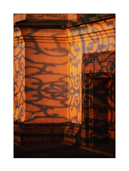 sunset shadows of St. Petersburg (Armin Fuchs) Tags: arminfuchs stpetersburg russia sunset light shadows fence wall window edge jazzinbaggies