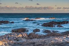 Wild and Windy Rugged Seascape (Merrillie) Tags: landscape rugged birubibeach coastcoastal rocky windy sea portstephens ocean rocks lateafternoon blanchereserve twilight water waterscape seascape nelsonbay sunset nature seaside