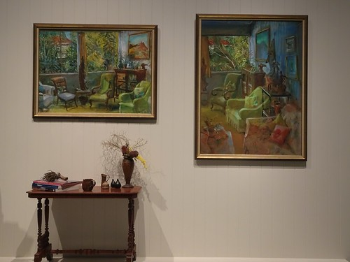 Brisbane. The Gallery of Modern Art exhibition of some of the paintings of well known Australian artist Margaret Olley who died in 2011.