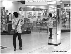 Waiting In The Reflection - Lansdowne X5432e (Harris Hui (in search of light)) Tags: harrishui fujix10 digitalmirrorlesscamera fuji fujifilm vancouver richmond bc canada vancouverdslrshooter mirrorless fujixambassador x10 fujixcompactcamera fujixseries fujix bw blackwhite monochrome digitalbw bignews rumour hongkongprotest hongkong