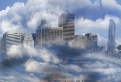 City of Clouds (Rusty Russ) Tags: cloud city boston white gone colorful day digital flickr country bright happy colour scenic america world sunset sky red nature blue tree green art light sun park landscape summer old new photoshop google bing yahoo stumbleupon getty national geographic creative composite manipulation hue pinterest blog twitter comons wiki pixel artistic topaz filter on1 sunshine image reddit tinder russ seidel facebook timber unique unusual fascinating