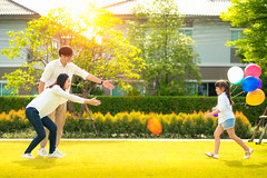 NEK01453 (I love landscape) Tags: cheerful picnic daughter love young kid holiday life joy leisure rest balloon green childhood relax outdoor garden woman mum balloons thailand kids girl child fun family outdoors people portrait asian asia nature smiling together park vacation grass happiness mother spring summer sun run mom happy father dad thai play male