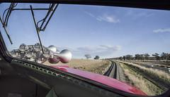 """North West Zephyr"". In the cab of 42103, on 9L42, south of Werris Creek, Main North, NSW, 17th August, 2019. (garratt3) Tags: 42103 421class australia aus diesel dieselloco dieselpassenger dieselpower dieseltrain digital locomotive newsouthwales newsouthwalesheritage pentax mainnorth rail railway srs standardgauge sydneyrailservices train trains"