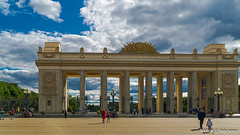 Moscow, Russia:  Gorky Park arch entrance (nabobswims) Tags: arch enhanced gorkypark ilce6000 lightroom luminositymasks mirrorless mockba moscow nabob nabobswims photoshop ru russia sel18105g sonya6000