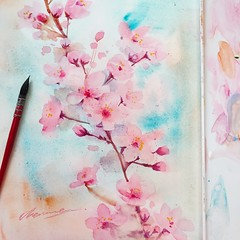 #watercolor (MoonMoon Art Work) Tags: watercolor