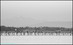 When It Was Good (Beachhead Photography) Tags: beachheadphotography pier water bw landscape outdoors people lights lines nature whiterock whiterockpier mountains scenic