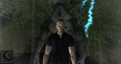 Jason and Crinos (Dyson-Gauld) Tags: secondlife sl slphotography slrp backalley alley alleyway wod worldofdarkness werewolf garou lighting lightning forest nola nocturne human masquerade