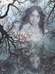 'Childhood Reflections' ~ myself (7 years old), East London (Nefise H) Tags: iphone7 park uk blue trees portrait england colour reflection nature water childhood composite reflections photo pond memories nostalgia adobe memory montage lloyd primaryschool sentimental eastlondon photoshopcc nefisehusseinphotography by gone times past history 70s melancholy nostalgic dreamy dream like photomontage