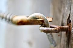 Closed (helensaarinen) Tags: closed macromondays rust lock latch macro decay